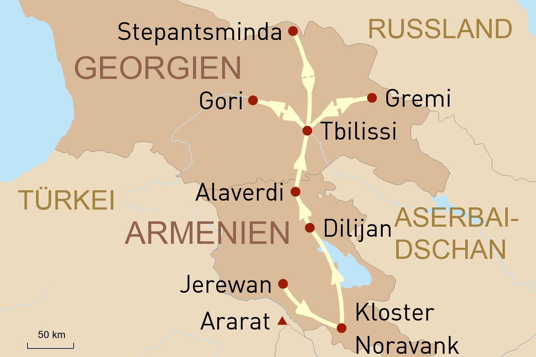 Reise nach Armenien und Georgien