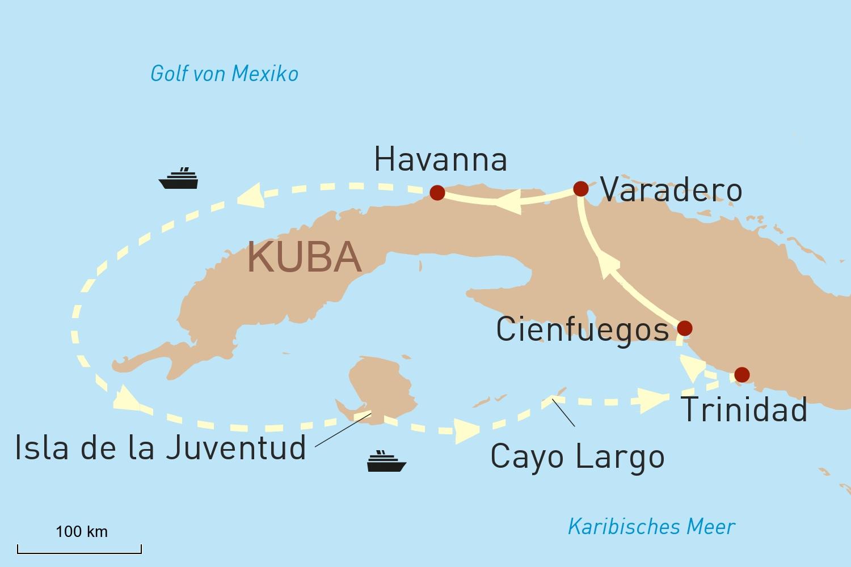 Kreuzfahrt Rund um Kuba & Entspannung am Traumstrand