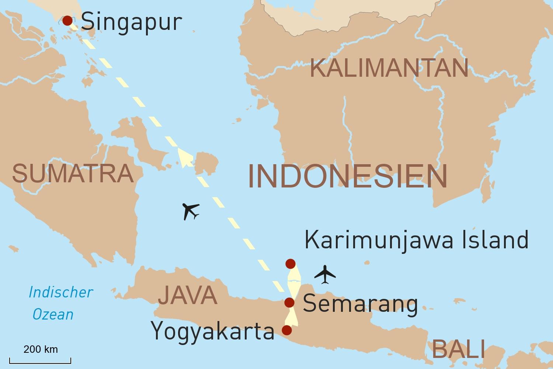 Java Reise: Kulturerlebnis Yogyakarta und exklusive Robinsonaden