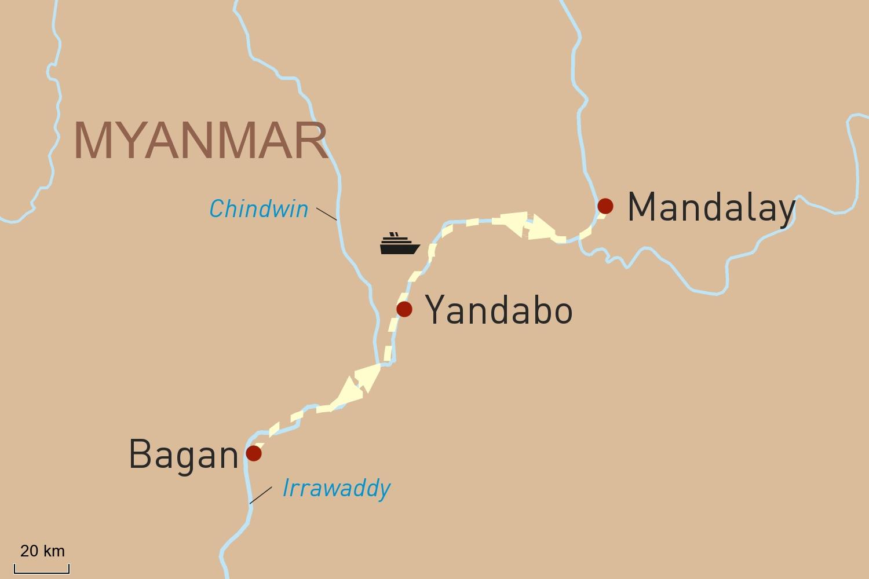 Kurzkreuzfahrt mit RV Pandaw zwischen Bagan und Mandalay