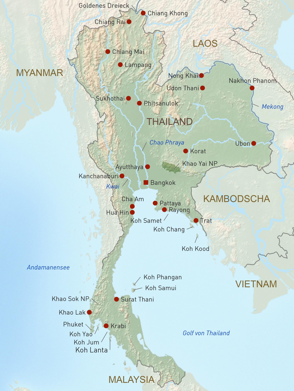 detailed map of korat thailand - HD2160×2880