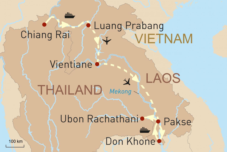 Laos entdecken - Rundreise mit zwei Flussfahrten