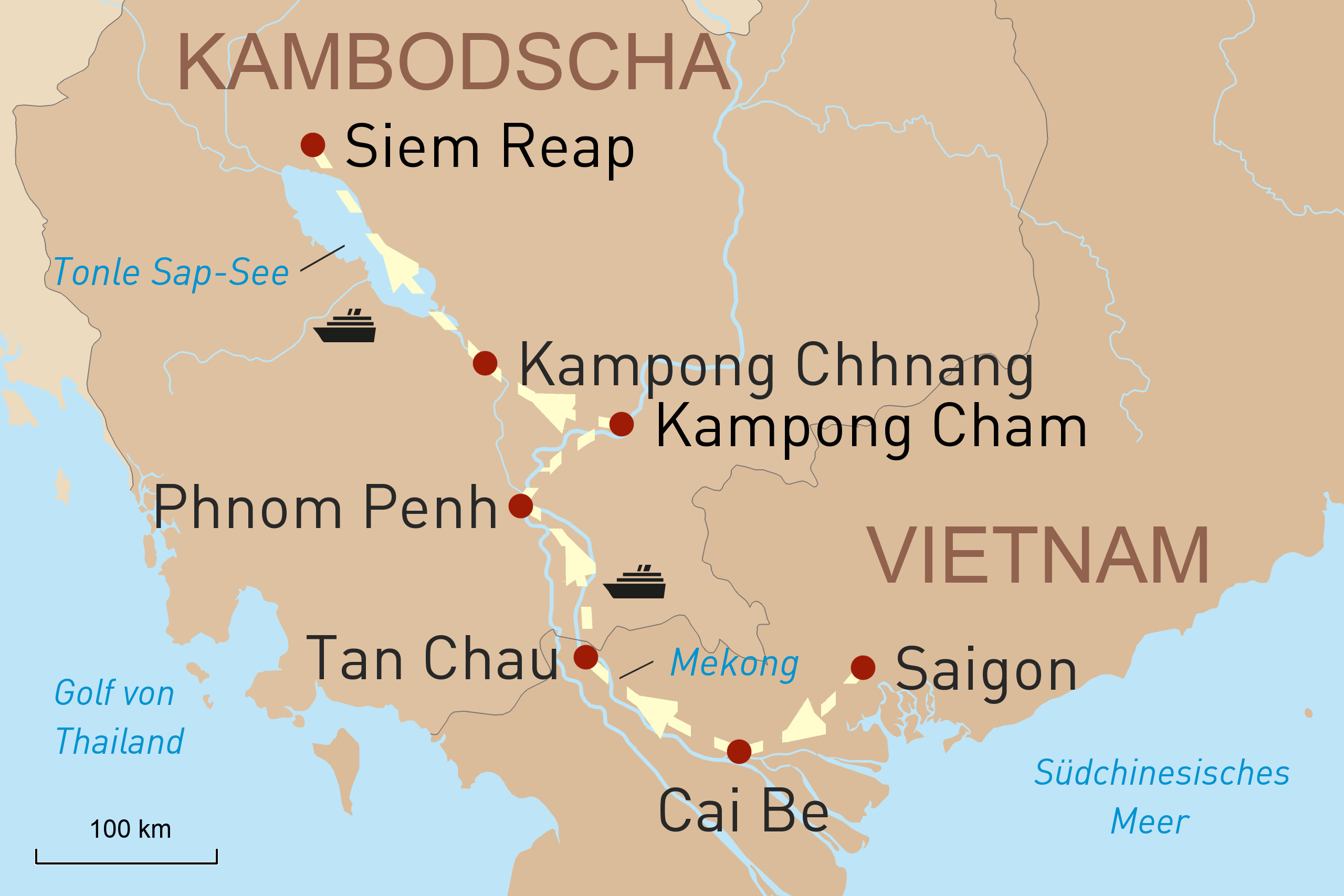 Lebensader Mekong und Tonle Sap-See