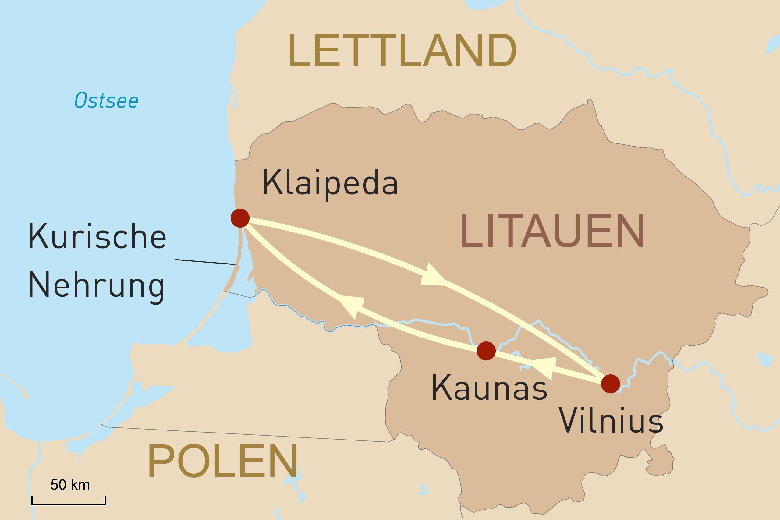3 perfekte Tage Litauen