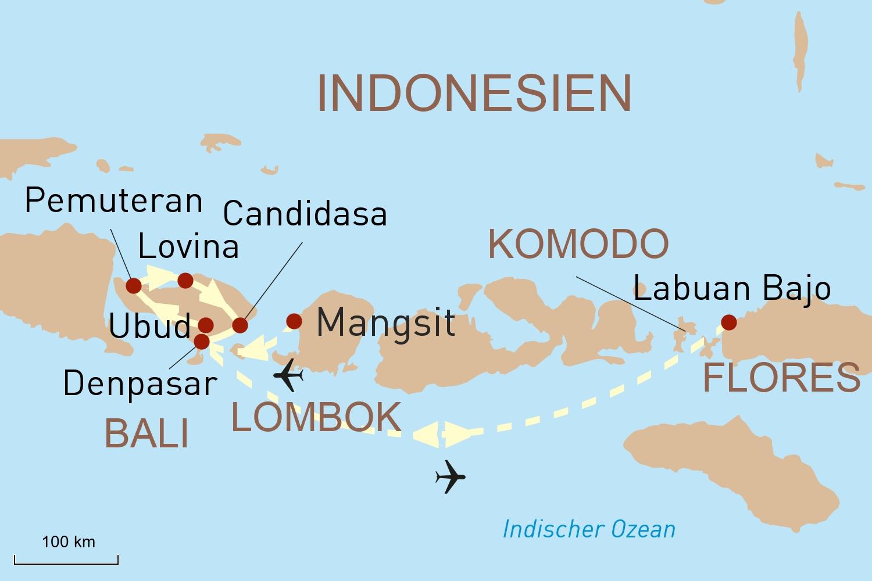 Lombok, Bali und Flores - Ungleiche Schwestern im Inselreich