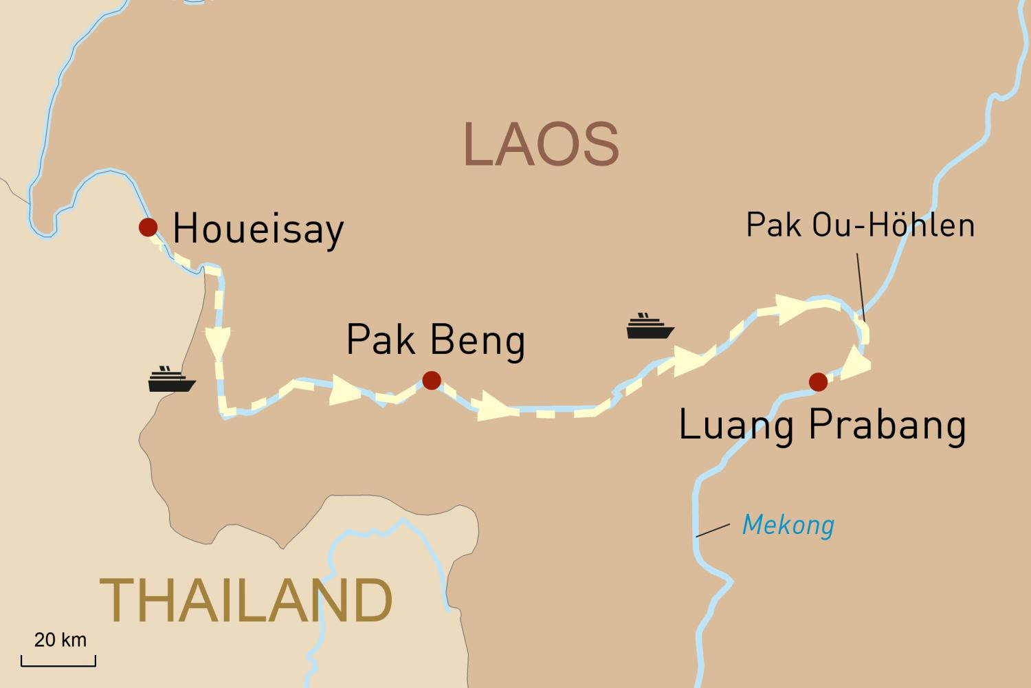 Mekong Flussfahrt in Nord-Laos mit Luang Say Cruises