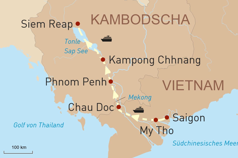 Luxuriöse Kreuzfahrt auf dem Mekong: Mit der Aqua Mekong von Saigon nach Siem Reap