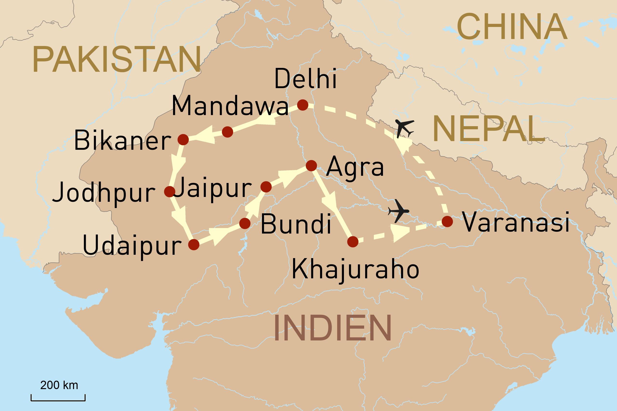 Reise in das Märchenland Indien