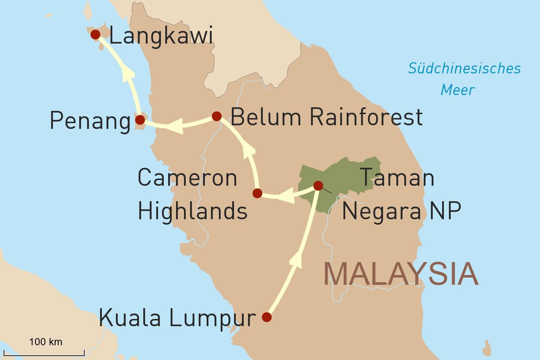 Malaysia Reise für Selbstfahrer und Baden im Inselarchipel Langkawi