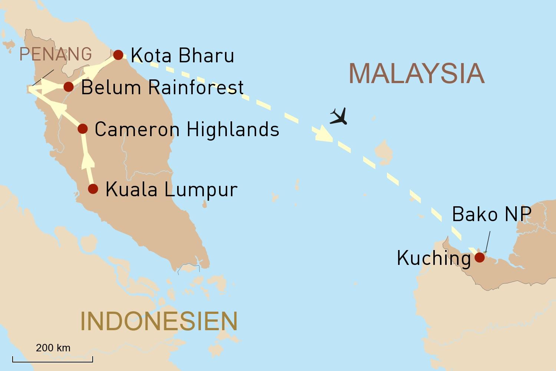 Malaysia Reise: Erlebnis Westmalaysia und faszinierende Wildnis auf Borneo