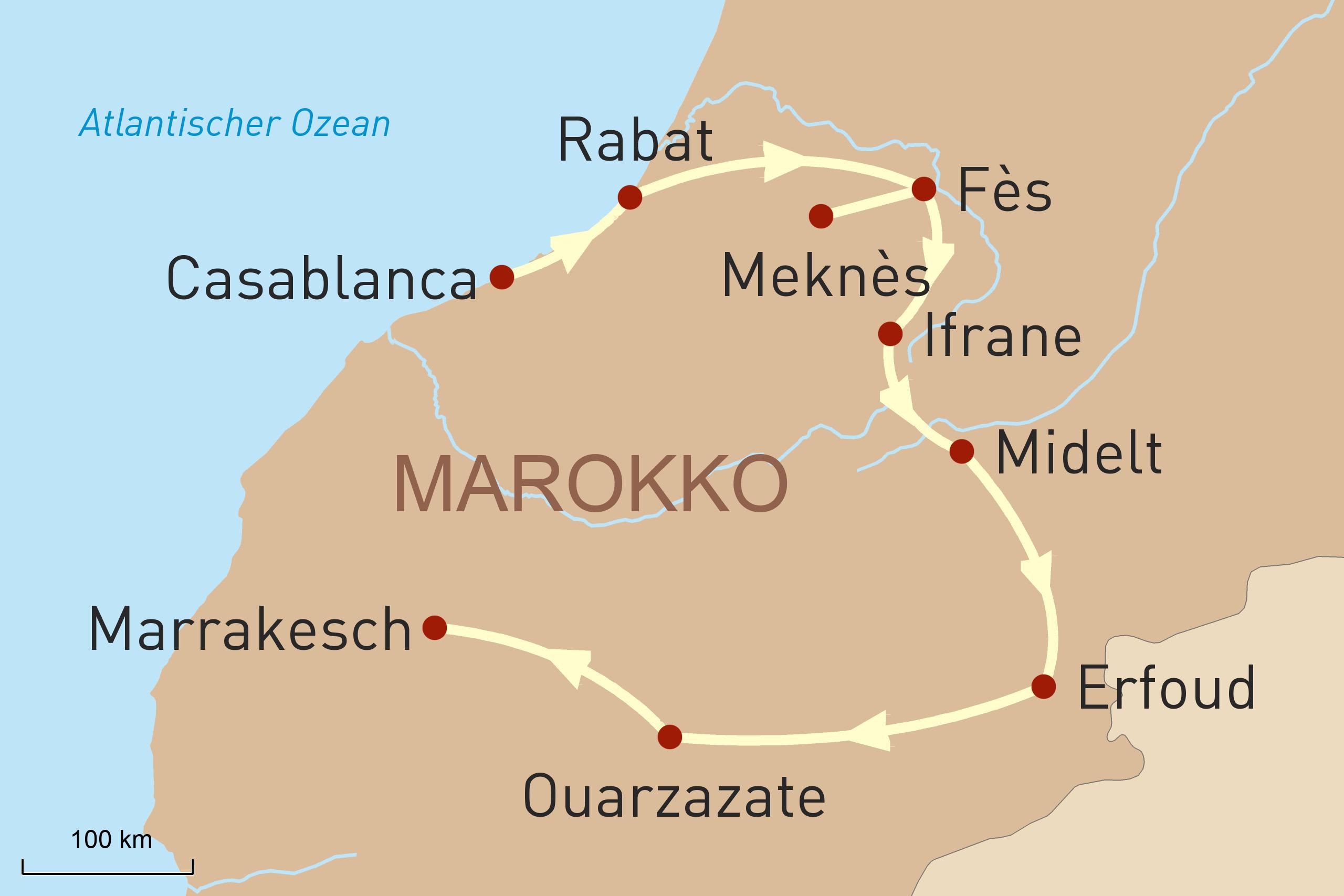 Marokko Deluxe Karte