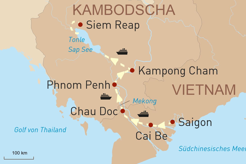Mekong Flusskreuzfahrt mit Heritage Line: Lebensader Mekong und Tonle Sap See