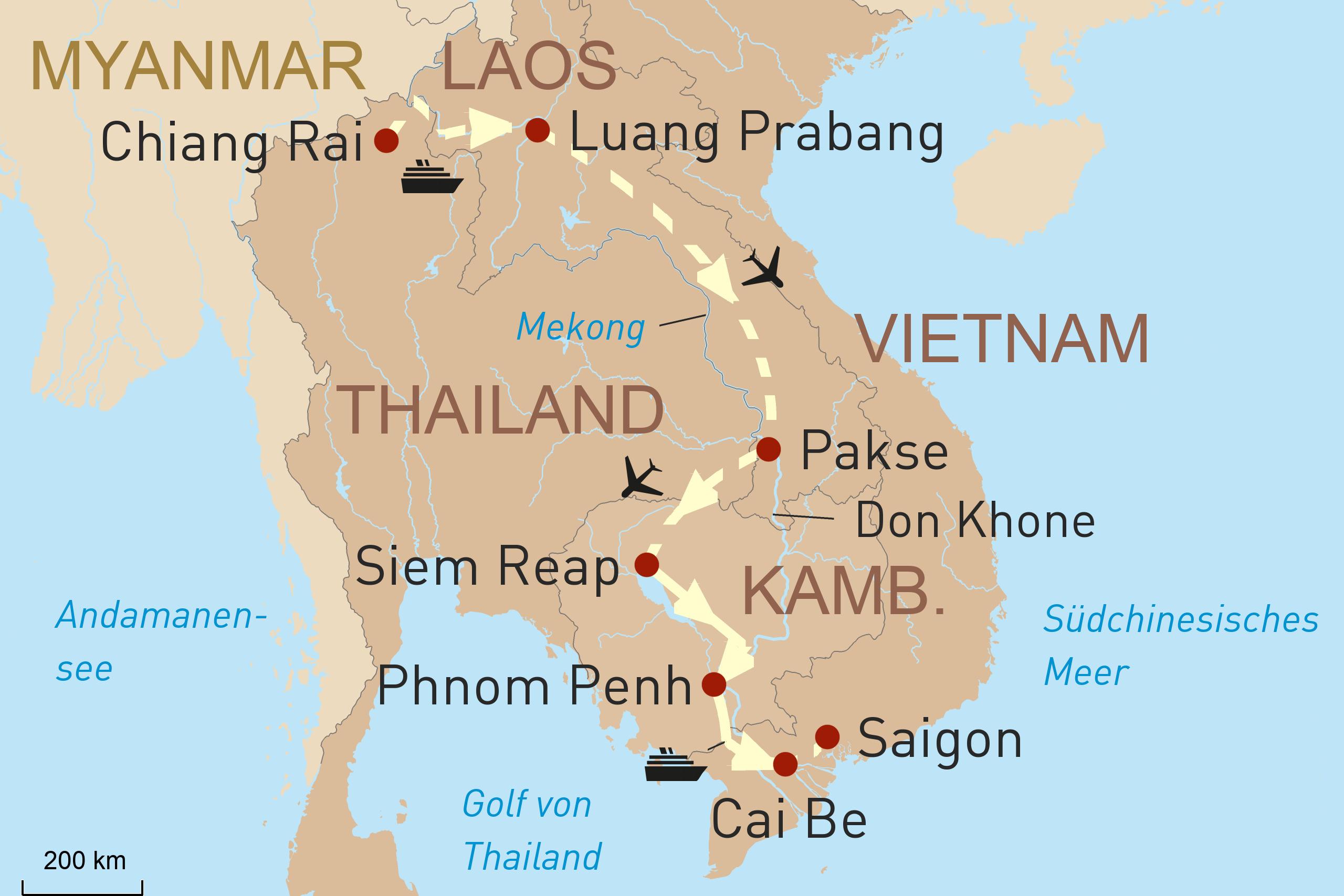 Mekong komplett - Vom Goldenen Dreieck bis zum Delta