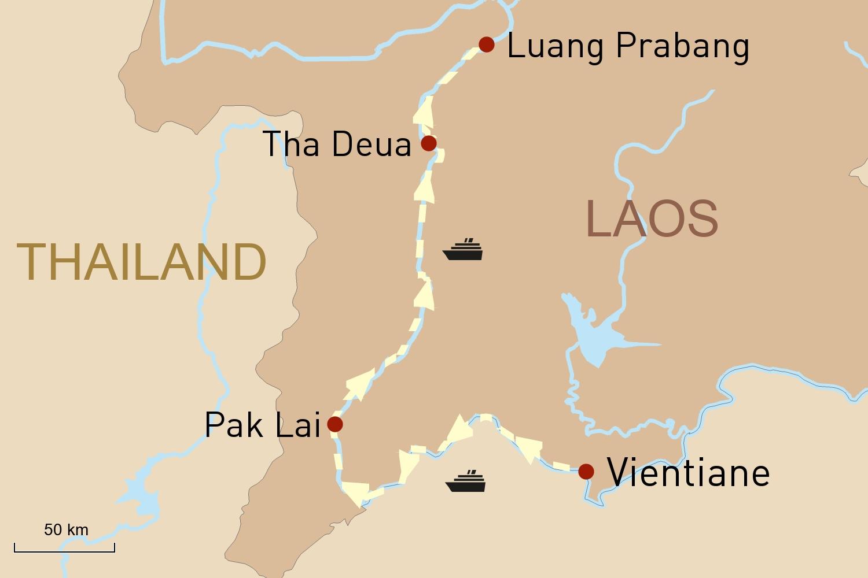 Flusskreuzfahrt: Mekong-Impressionen in Nordlaos