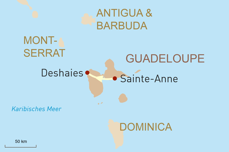 Karibik Reise individuell: Guadeloupe per Mietwagen entdecken