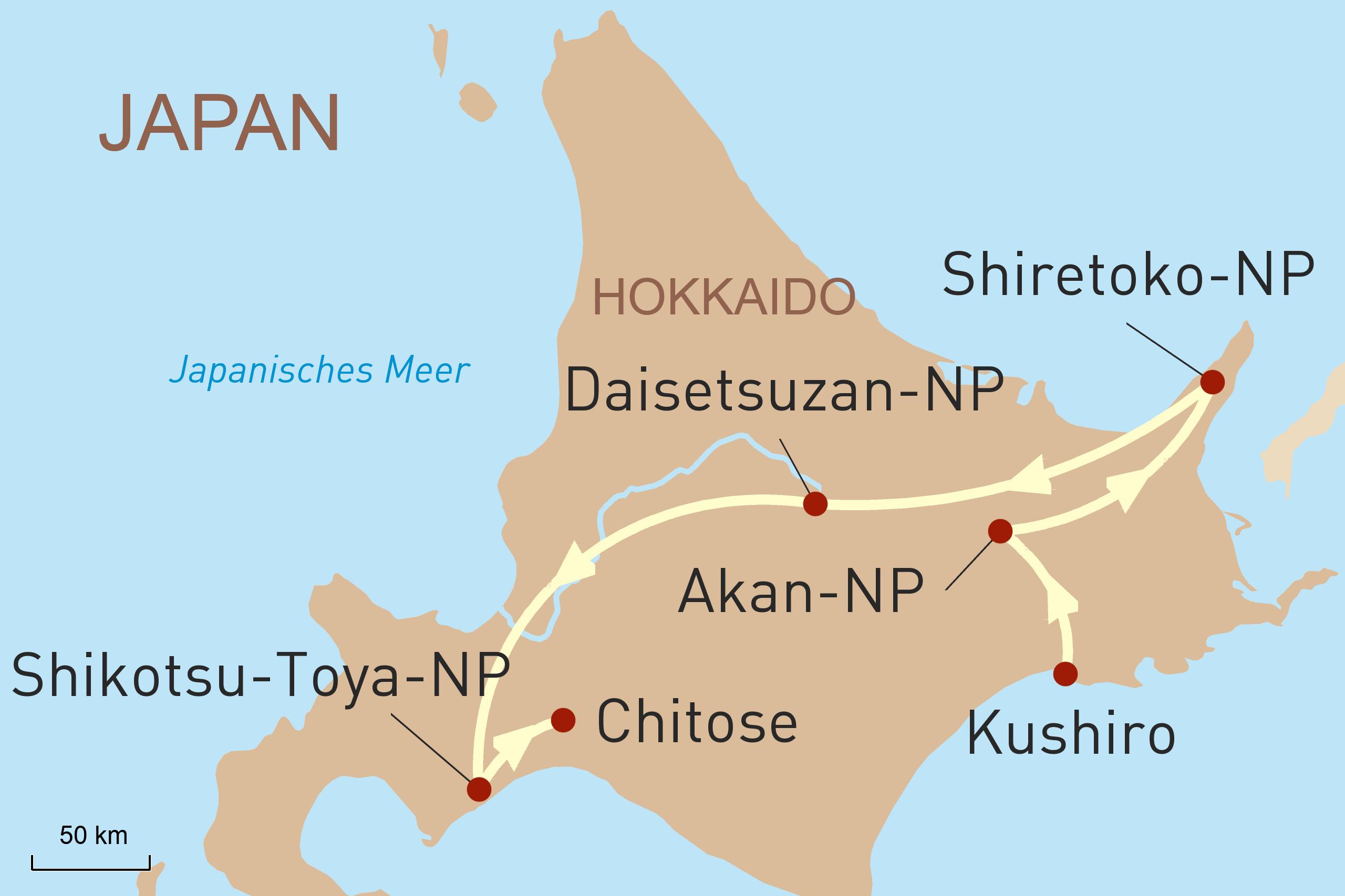 Mietwagenreise Hokkaido: Land der Vulkane und Seen