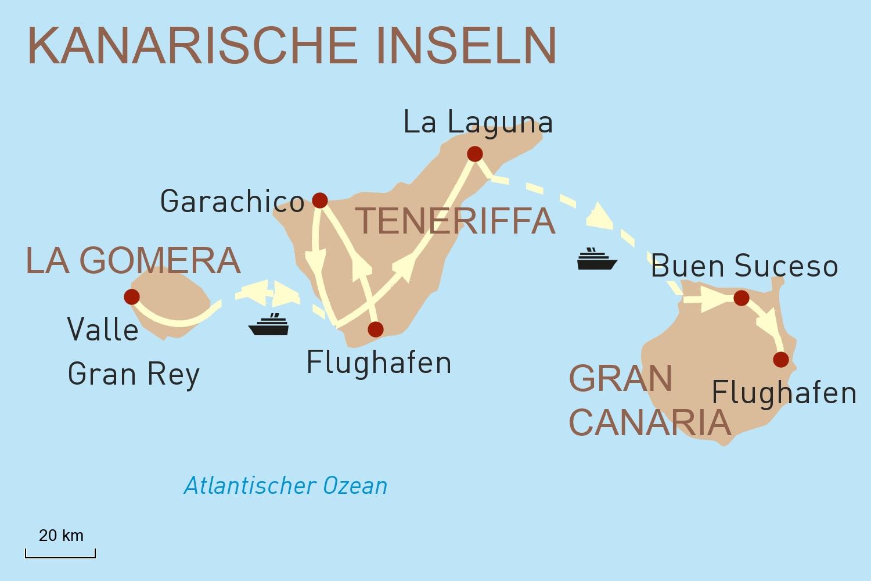 Mietwagenreise: Inselhopping auf den Kanarischen Inseln