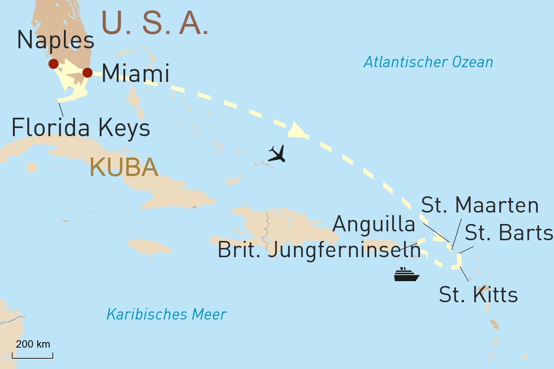 Mietwagentour Südflorida & Karibikkreuzfahrt auf der Star Flyer