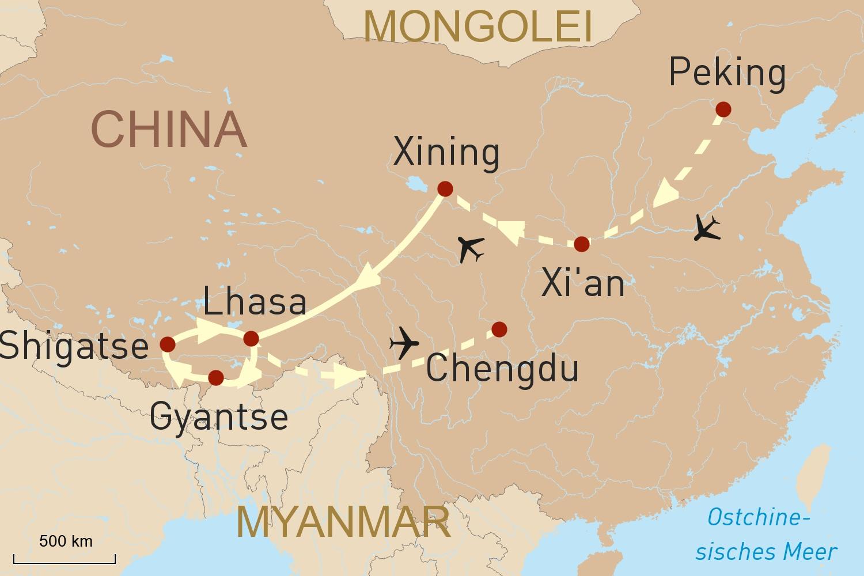 Mit der Tibetbahn nach Lhasa