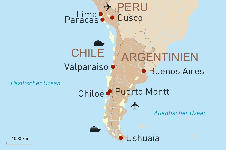 Mit der neuen HANSEATIC inspiration von Lima nach Ushuaia
