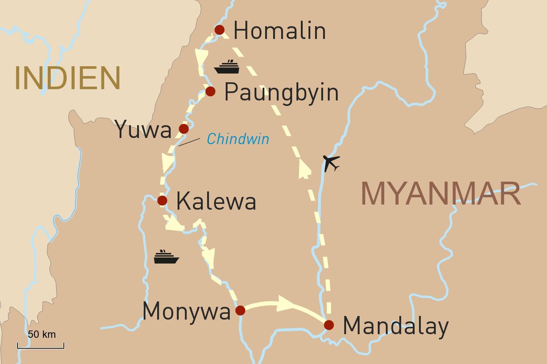 Flusskreuzfahrt in Myanmar: Mit der RV Pandaw auf dem Chindwin