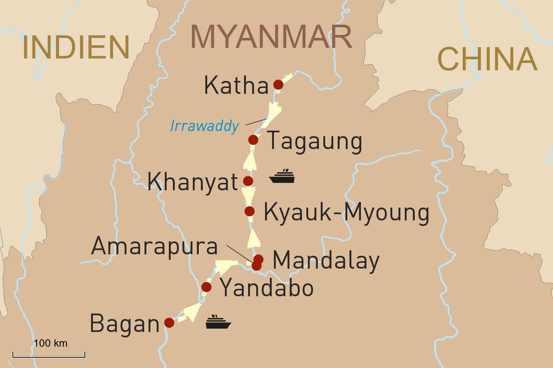 Flusskreuzfahrt in Myanmar: Mit der RV Pandaw zum Oberlauf des Irrawaddy