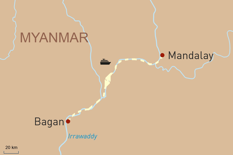 Flusskreuzfahrt in Myanmar auf der Sanctuary Ananda: Bagan - Mandalay - Bagan