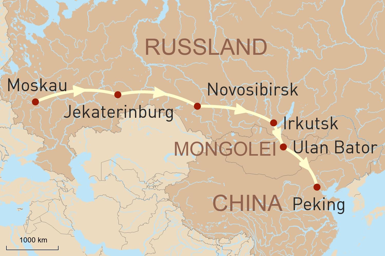 Mit der Transsibirschen Eisenbahn von Moskau nach Peking