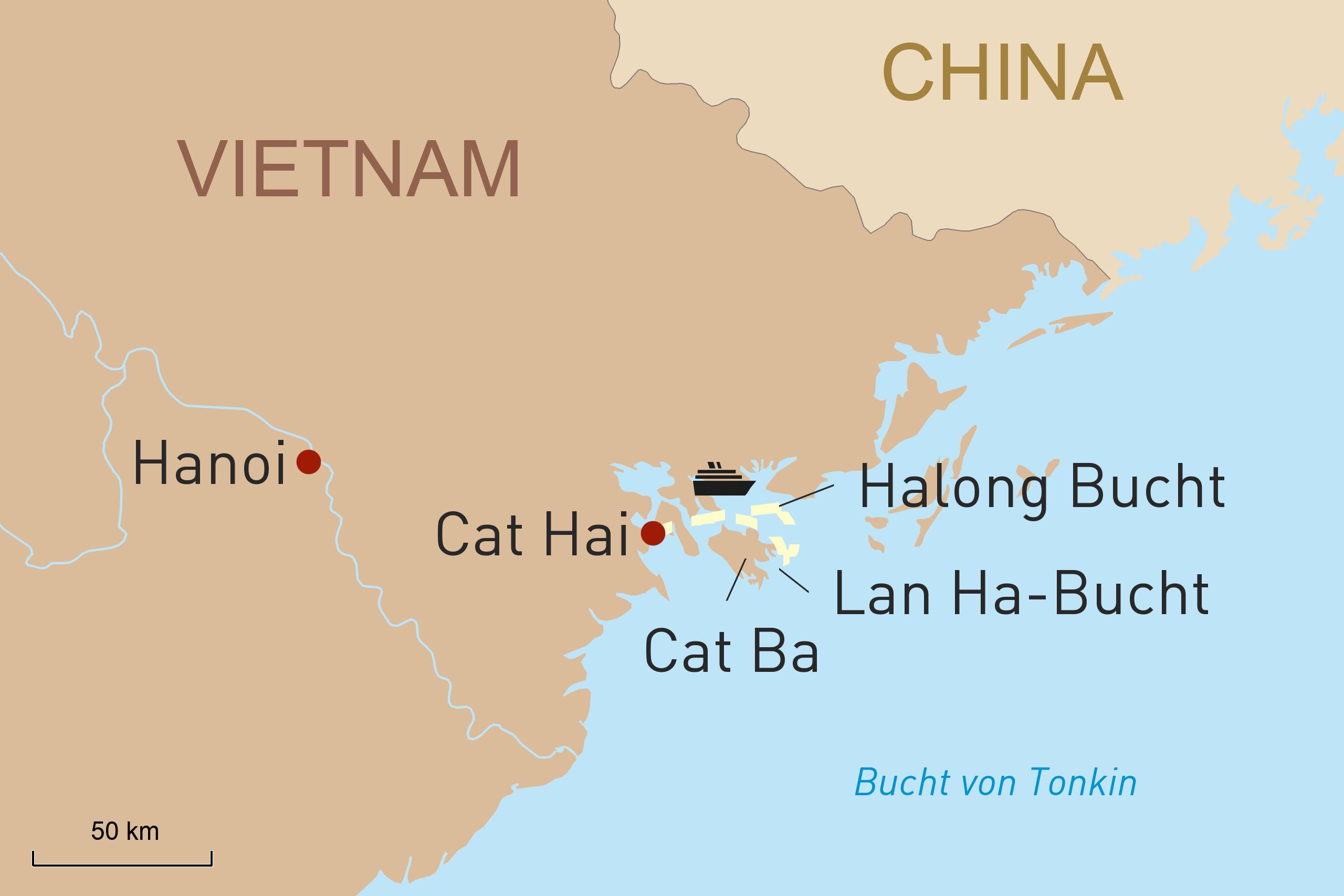 Mit der Ylang durch die Lan Ha-Bucht