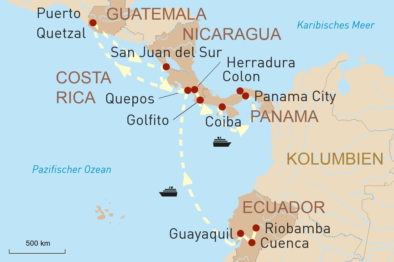 Ecuador & Mittelamerika: Mit einer frischen Brise zu den Mayastätten