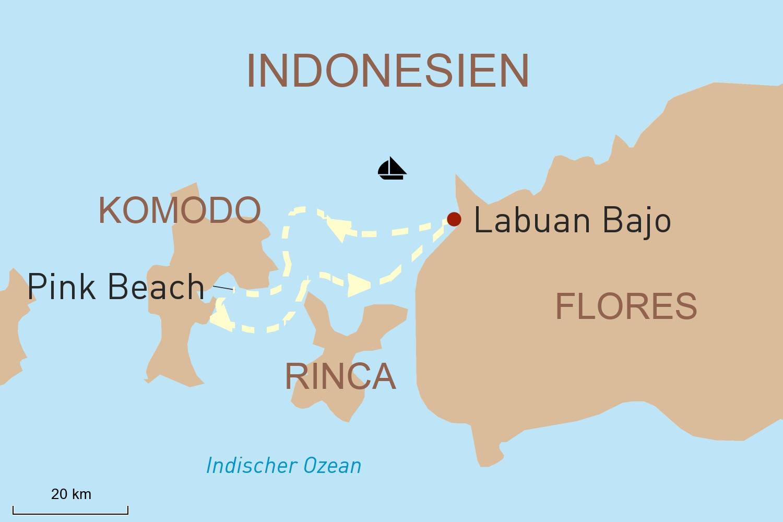 Indonesien Kreuzfahrt: Mit der Moana Cruise durch den Komodo-Rinca-Nationalpark