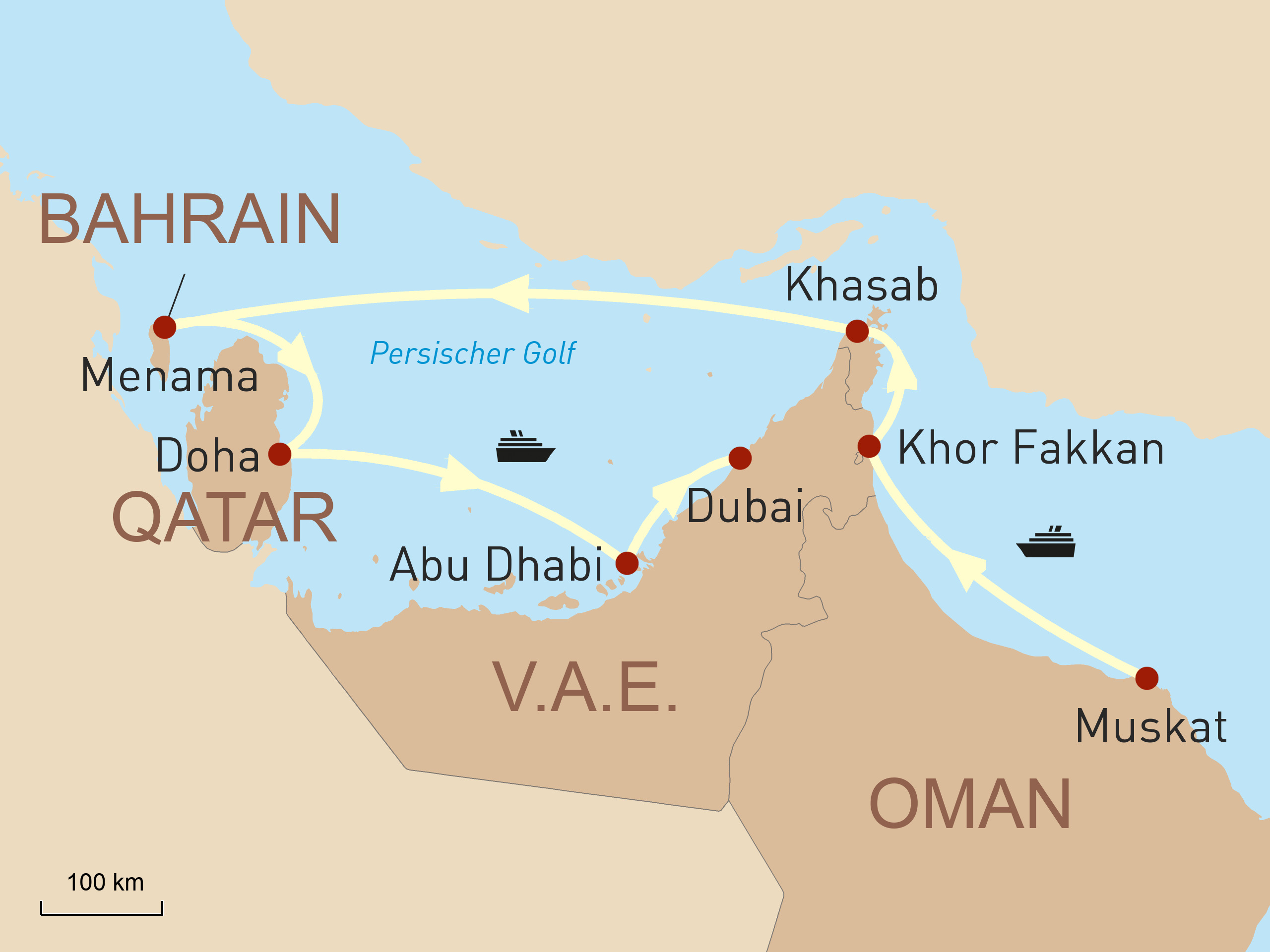 Abu Dhabi & Dubai Reise - Zwischen Wüste und Wolkenkratzern