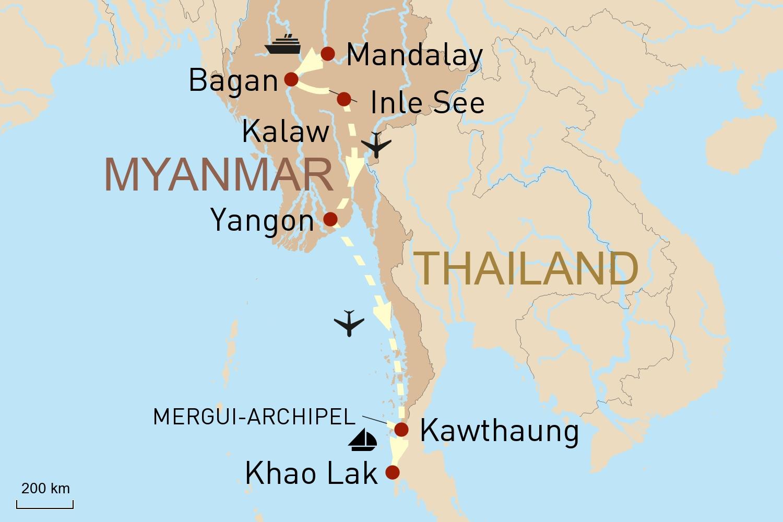 Myanmar auf dem Wasser erleben - Intensivreise mit zwei Kreuzfahrten