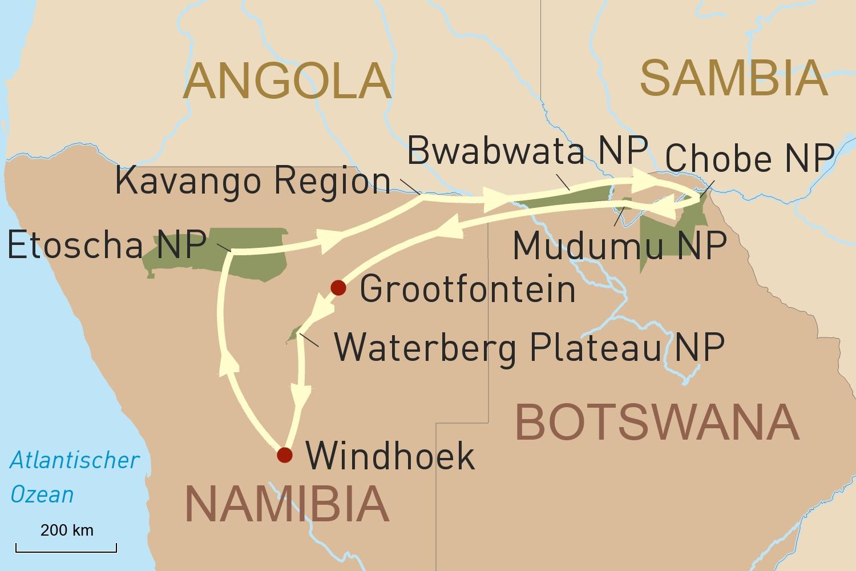 Namibia auf den zweiten Blick und Tierparadies Botswana