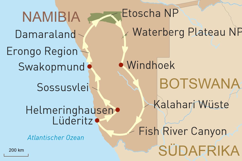 Namibia Reise für Selbstfahrer