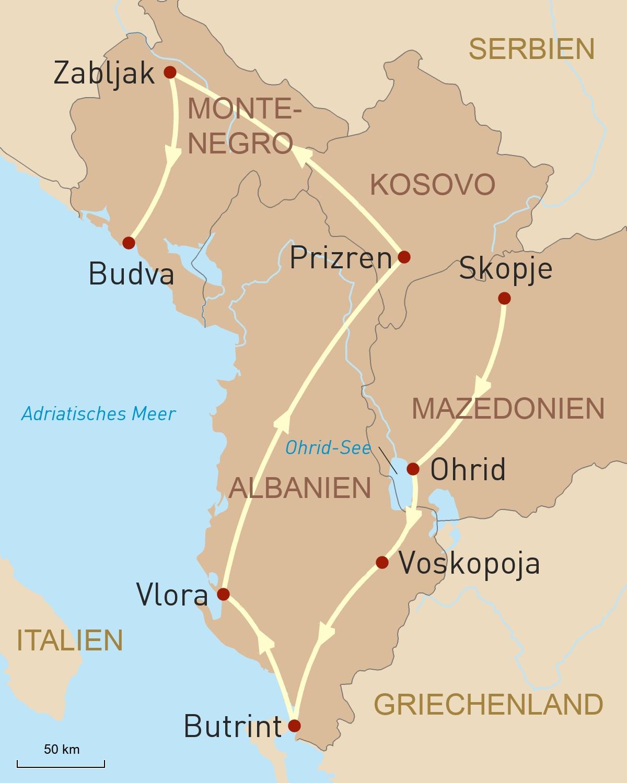 Naturerlebnis und Kulturgenuss auf dem Balkan