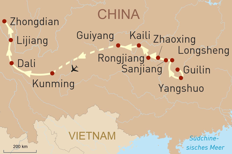 China Reise: Naturerlebnis in Chinas unbekanntem Süden