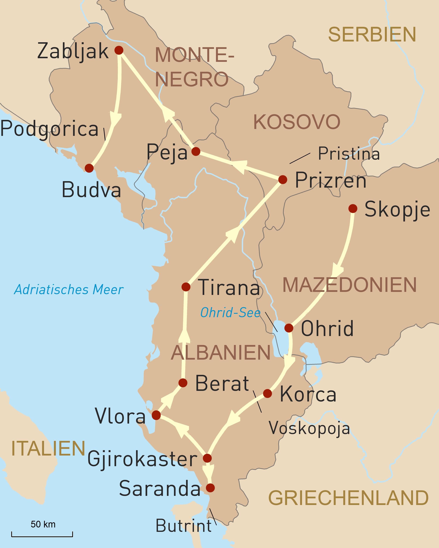 Naturerlebnis und Kulturgenuss Balkan