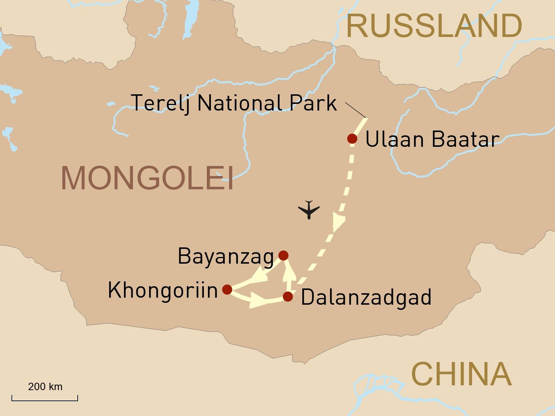Naturwunder der Mongolei - mit Übernachtungen in der
