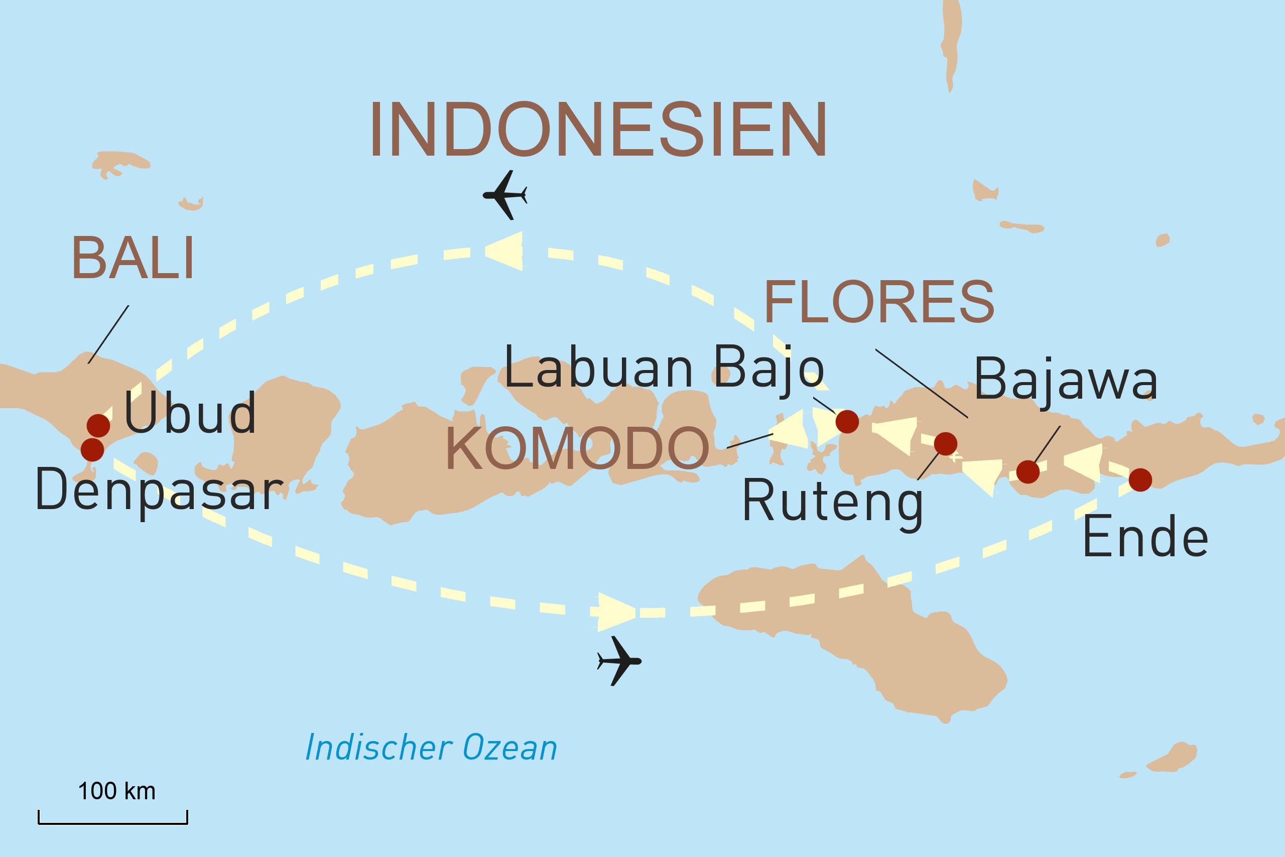 Flores faszinierende Natur und die Götterwelt Balis