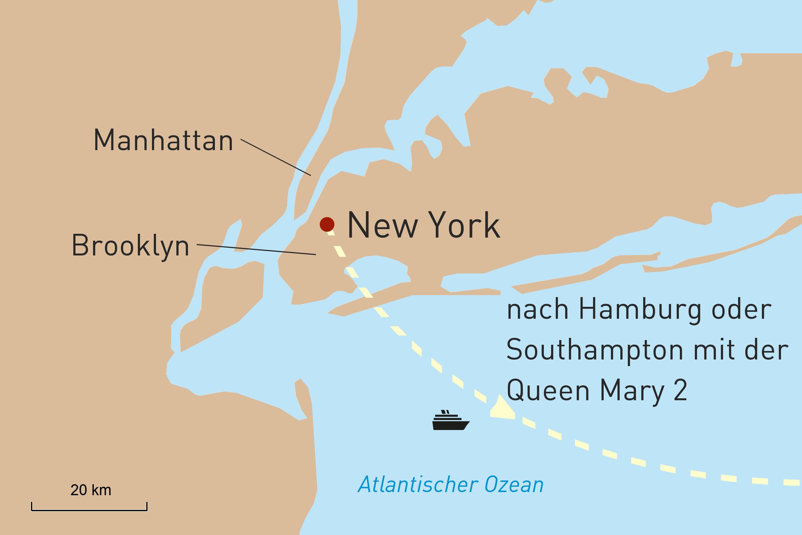 NYC-Atemberaubender Big Apple und Queen Mary 2