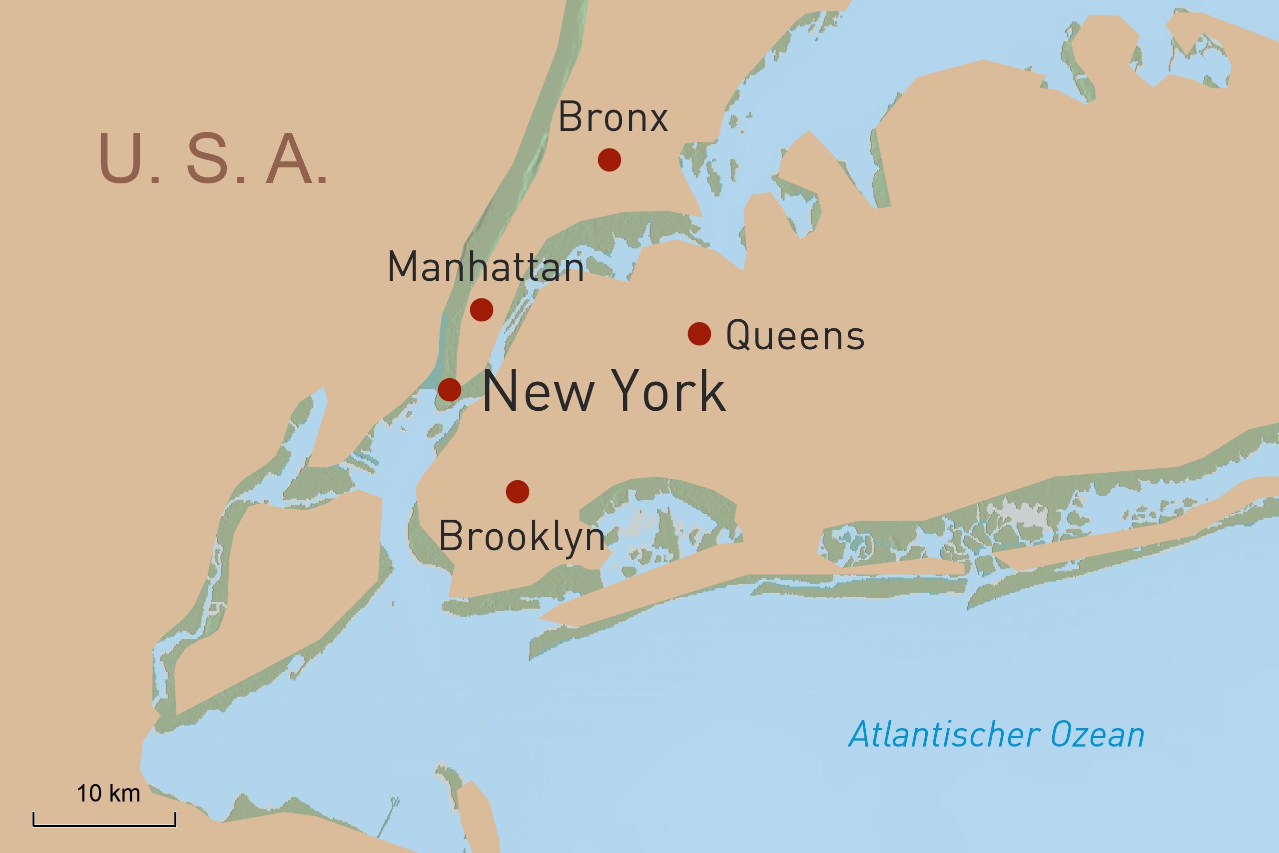 New York Übersichtskarte