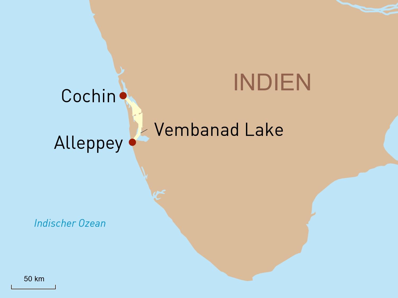 Unvergessliche Kreuzfahrt durch die Backwaters an Bord der Oberoi MV Vrinda