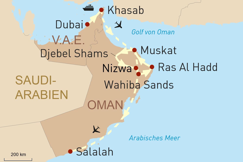 Oman Reise Intensiv - Von Dubai über Musandam bis nach Salalah