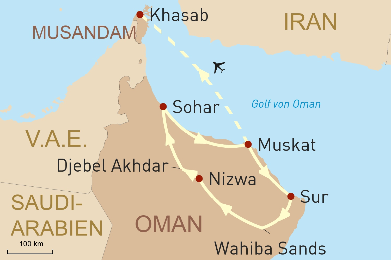 Oman per Jeep & Verlängerung in Musandam
