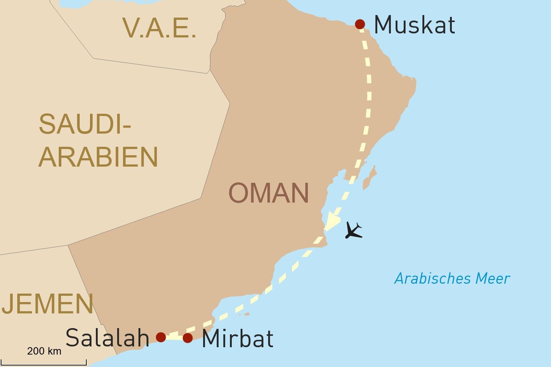Oman Reise: Muskat und die Weihrauchregion