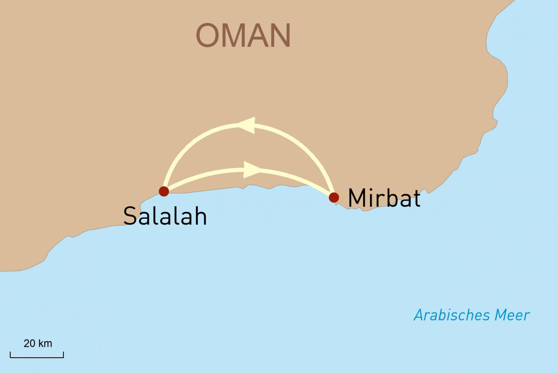 Oman: Salalah mit dem Mietwagen entdecken