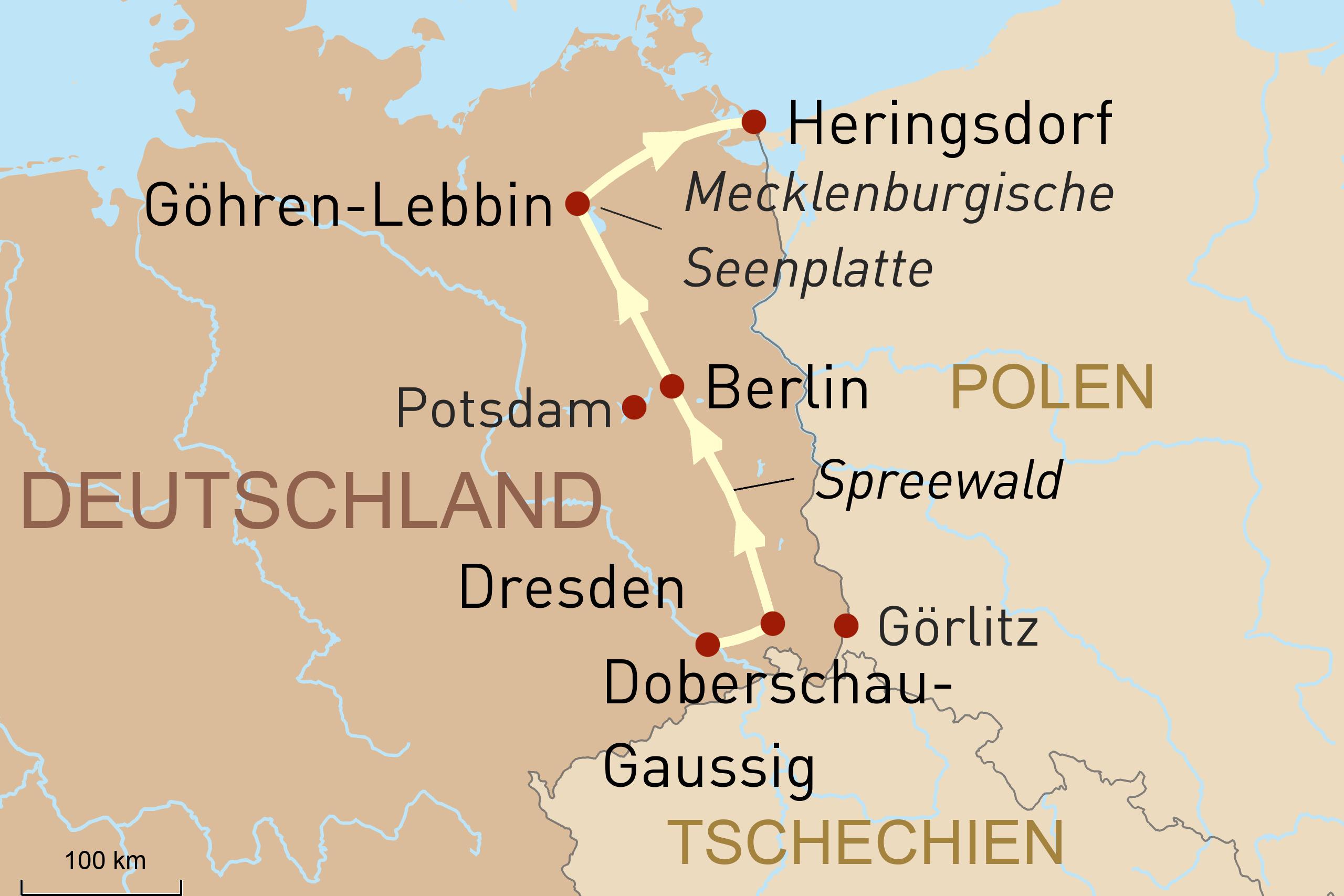 Glanzlichter & Naturschönheiten zwischen Dresden und Usedom – Selbstfahrerreise