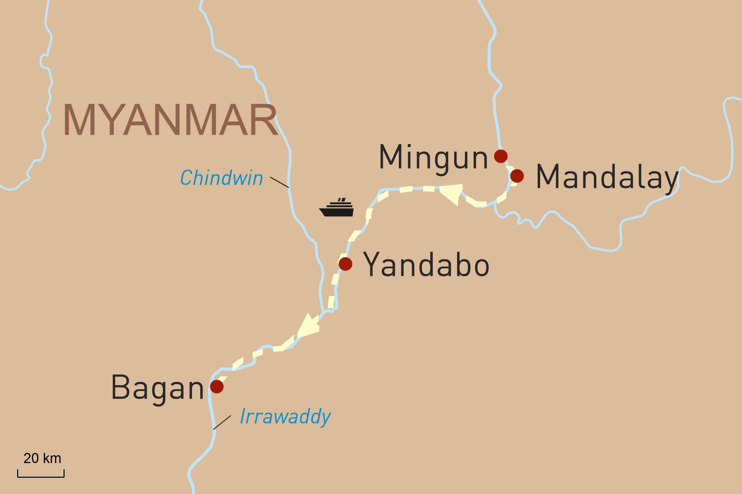 Von Mandalay nach Bagan auf der RV Paukan