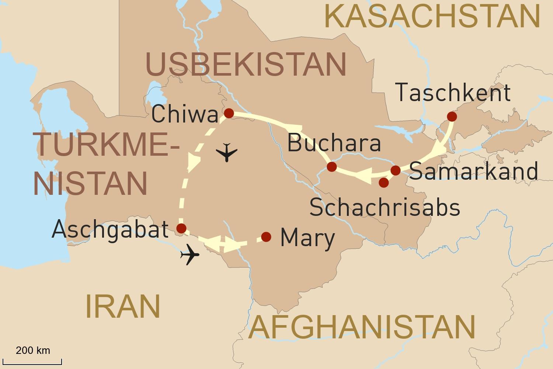 Reise nach Usbekistan & Turkmenistan: Perlen an der Seidenstraße